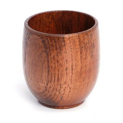 Small Traditional Handmade Natural Solid Wood Wine Cup Wooden Tea Drinking Mug