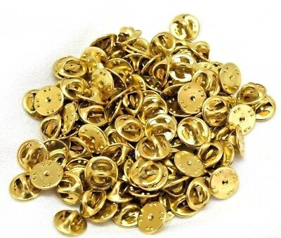 brass clutch back clasps butterfly pinback guards made in USA lot of 100 pieces