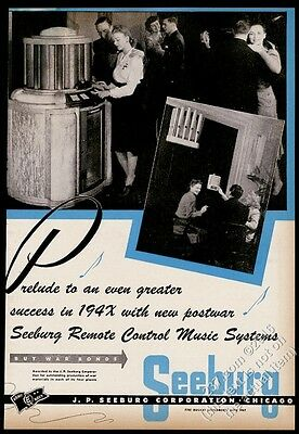 1945 Seeburg 8800 jukebox wallbox photo vintage trade print ad