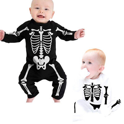 Newborn Baby Girl Boy Scary Halloween Party Rompers Bodysuit Outfits Clothes