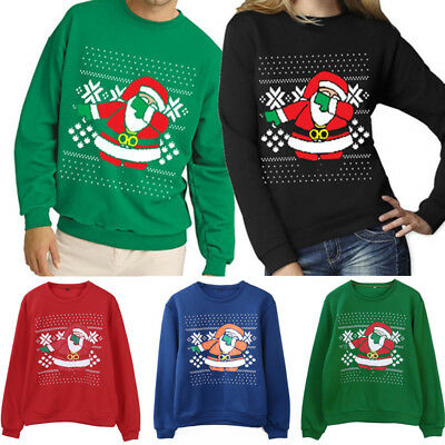 Xmas Chrismas Ugly Sweater Couple Matching Clothes Outfits for Lovers Women Men
