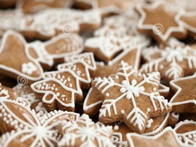 Christmas Decorations : Gingerbread Snowflakes Birds And House Etc (Set of 11)