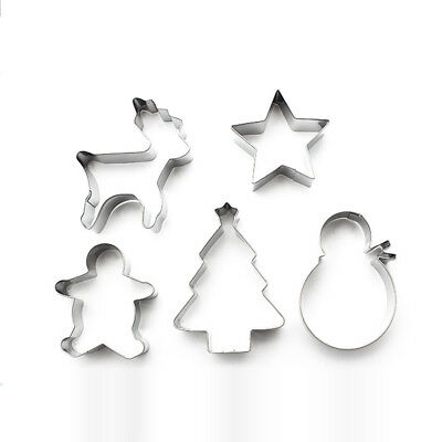 Christmas Gingerbread Man Cookie Cutters 5 Pcs/ Set