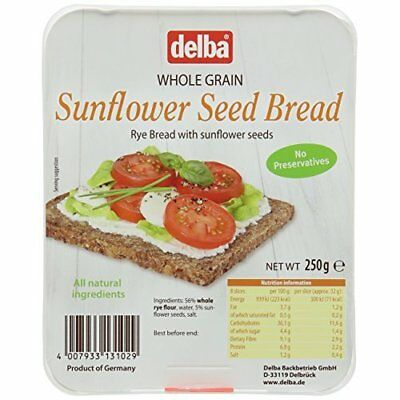 Delba Sunflower Seed Bread 250 g (Pack of 6)