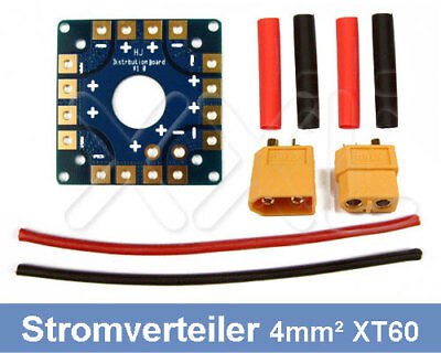 Stromverteiler Platine 100A + 4,0mm² XT60 M+W ESC Power Board Multicopter