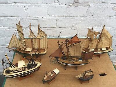 Collection Of Wooden Boats, Various Sizes