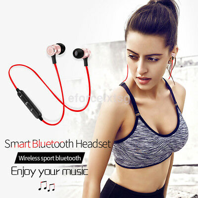 Portable Magnetic Bluetooth 4.2 Wireless Stereo Earphone Earbuds Sport Headset