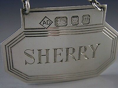 Dunhill Sterling Silver English Sherry Bottle Decanter Label London 1967