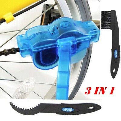 New Cycling Bike Bicycle Chain Wheel Wash Cleaner Tool Brushes Scrubber Set Kit