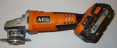 AEG BEWS18-125X 18V Cordless 125mm Angle Grinder +4Ah Pro Li-Ion Battery!