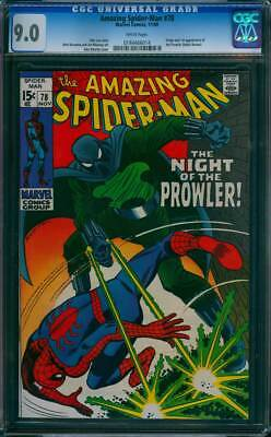 Amazing Spider-Man #  78  The Night of the Prowler !  CGC 9.0  scarce book !