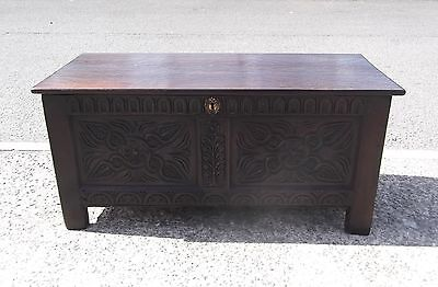 Antique Period Oak Coffer / Trunk /  Chest   Repolished    Delivery Available