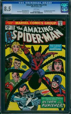 Amazing Spider-Man #  135  2nd app. of the Punisher !  CGC 8.5  scarce book !