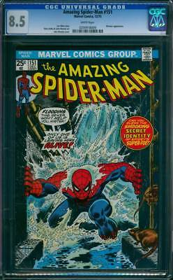 Amazing Spider-Man #  151  Only One of us Leaves Alive !  CGC 8.5  scarce book !