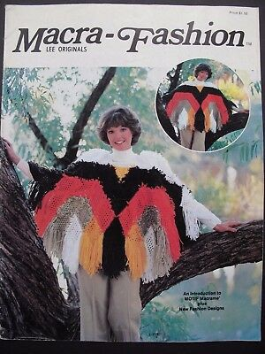 Vintage Macramé Designs From Usa - Macra-Fashion 1977