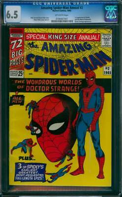 Amazing Spider-Man Annual # 2 The Worlds of Dr Strange !  CGC 6.5  scarce book !