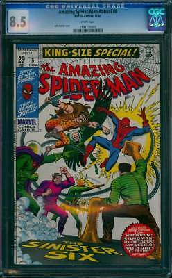 Amazing Spider-Man Annual # 6  The Sinister Six !  CGC 8.5  scarce book !