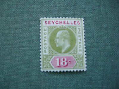 Seychelles 18cent red/green stamp KEVII MNH
