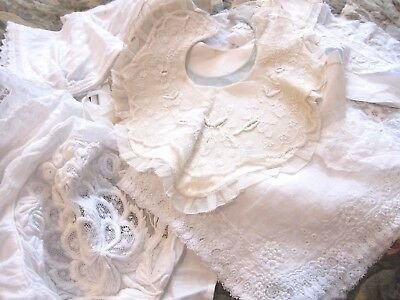 Antique French Lacey Items Bundle