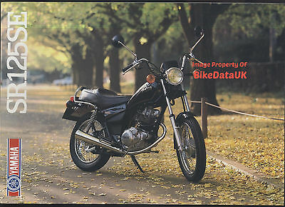 Genuine Yamaha SR125SE (1982-1985) Dealers Sales Brochure SR 125 SE Custom NOS