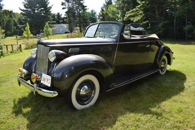 1938 Packard Six  1938 Green Convertible Coupe 3 Speed Inline 6 Great Driver No Rust