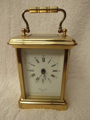 Vintage Bornand Freres 8 Day Brass Carriage Clock For Tlc