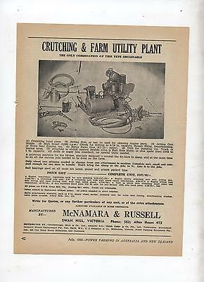 Crutching & Farm Utility Plant Advertisement removed from 1952 Farming Magazine