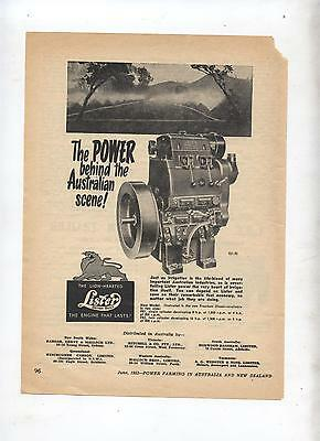 Lister New Freedom Stationary Advertisement removed from 1953 Farming Magazine