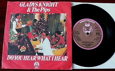 """Glady Knight & The Pips Do You See What I See Christmas 7"""" Buddah (1975) Ex Uk"""