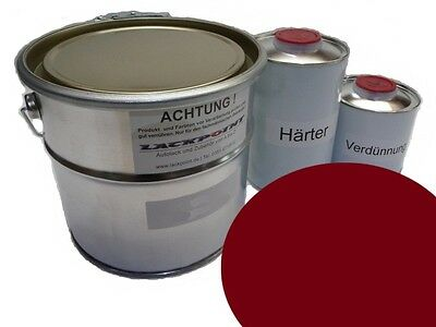 5 Litre Set 2K Car Paint GDR Jawa Red Motorcycle Trabant Wartburg IFA