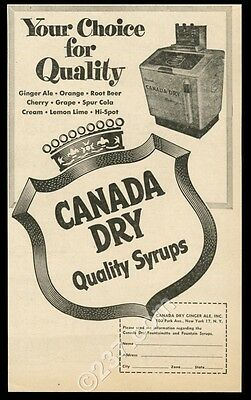 1951 Canada Dry syrup unusual soda fountain photo vintage trade print ad