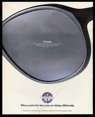 1986 Vuarnet PX2000 sunglasses big color photo vintage print ad
