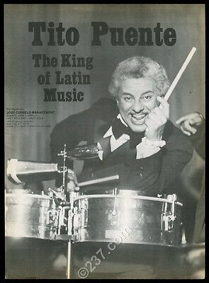 1977 Tito Puente photo music trade gig booking ad