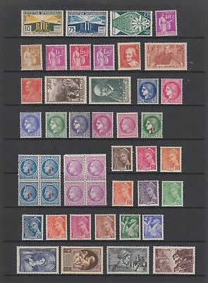 France early - mid period MH or MNH collection , 88 stamps