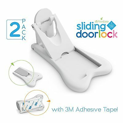 Sliding Door Lock for Child Safety - Baby Proof Doors & Closets. Childproof y...