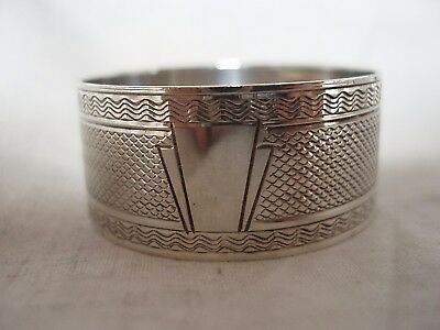 Art Deco Napkin Ring Sterling Silver London 1941