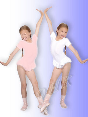 2013# Leotard with Ruffle Short-sleeved Cotton Gr. 98 to 152