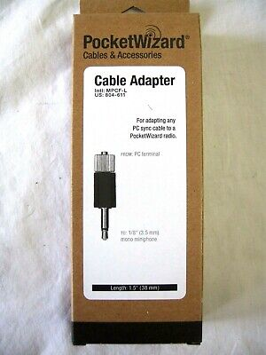 "Pocket Wizard 804-611 MPCF- Adapter for any PC Cable to PocketWizard ""NEW"""