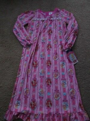 * NEW * DISNEY PRINCESS NIGHTGOWN Pink Gown Pajamas Ariel GIRLS SIZE 7 - 8 NWT