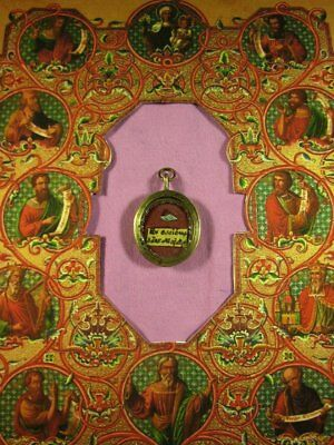 Antique Brass Case With A Relic Of St. James The Greater - The Apostle