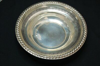 Rogers 925 Solid Sterling Silver Candy Bowl Dish #2011 Pierced - 73g (2)