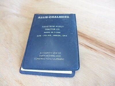 Old Pocket Notepad Allis-Chalmers Construction Equip. Hanstrom Hurley Marion IA