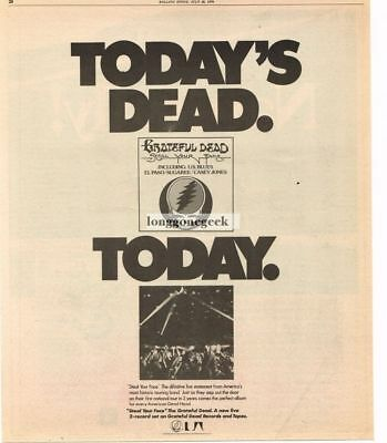 1976 The Grateful Dead Steal Your Face Vtg Album Promo Print Ad