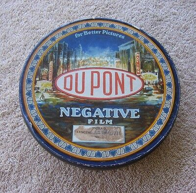 Vintage 1920's Dupont Negative Film Tin Can~Photography~Darkroom Infra-D #11