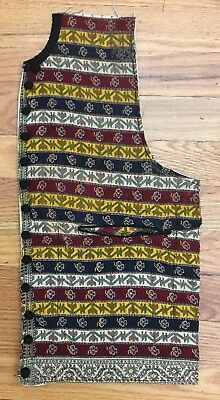 Beautiful Rare 19th C. French Wool Woven Paisley Half of a  Vest  (2141)