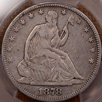 1878 Better date Liberty Seated half, PCGS VF25, nice orig    DavidKahnRareCoins