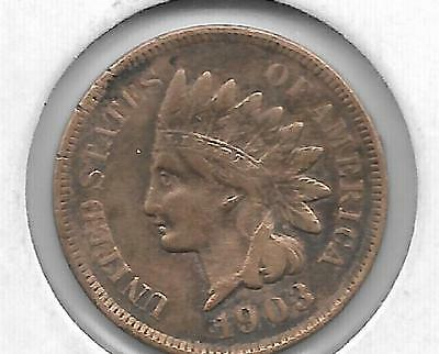 U.s. 1903 Indian Head Cent - See Scan For Condition (Full Liberty)