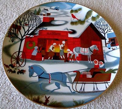 Village Blacksmith, Betsey Bates, The Joy of Christmas Collector Plate
