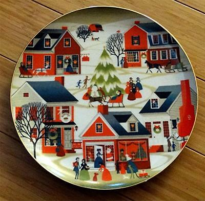 Christmas Village, Betsey Bates, The Joy of Christmas Collector Plate