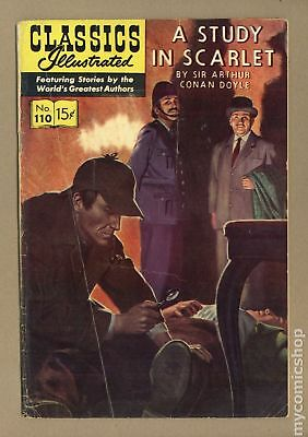 Classics Illustrated 110 A Study in Scarlet (1953) #1 GD 2.0